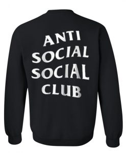 anti social social club black color Sweatshirt