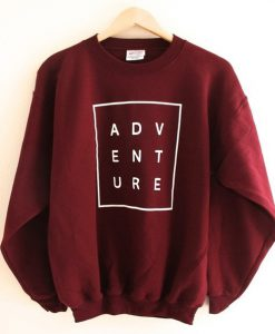 ADVENTURE Maroon sweatshirt
