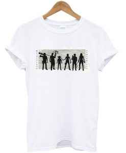 The Walking Dead The Usual Dead Police Lineup T shirt