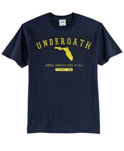 Underoath where america goes to die T-shirt