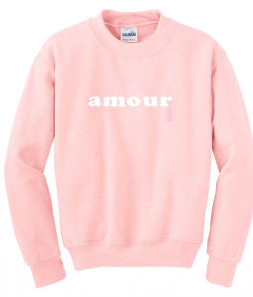 amour pink sweatshirt