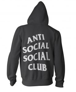 anti social social club black hoodie