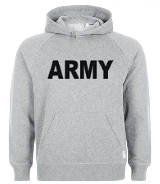 army slogan hoodie