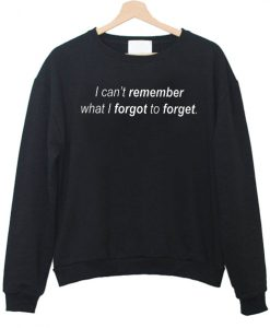 i can t remember what i forgot to forget sweatshirt
