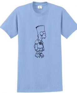 the simpson grunge t shirt