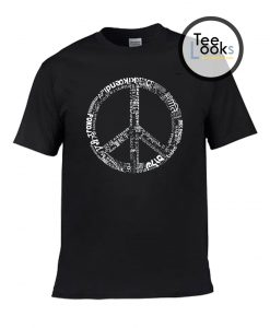 The Word Peace in 77 Languages T-shirt