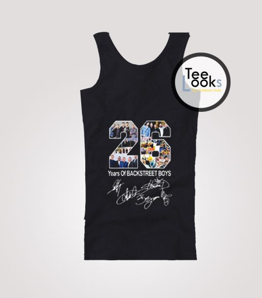 26 Years of Backstreet Boys All Signatures Tank Top