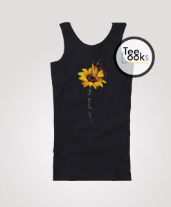 Sunflower Butterfly Never Give Up Tank Top