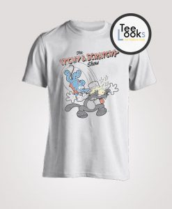 The Simpsons The Itchy Scratchy Show Grey T-Shirt