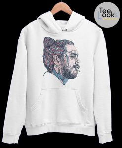 Post Malone Face Art Hoodie