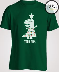 Tree Rex Funny T-Rex Dinosaur Christmas Women T-Shirt
