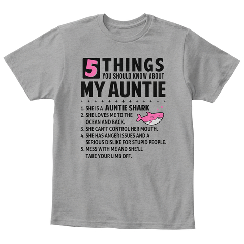 5 things you should know Auntie Shark T-Shirt TM