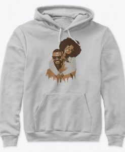 African Family Art Happy Black Couple Valentine Hoodie IGS