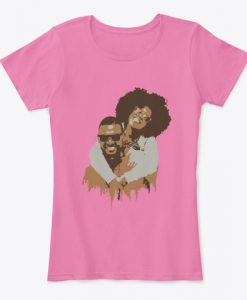 African Family Art Happy Black Couple Women's Valentine T-Shirt IGS