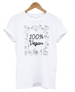 100% Pure Vegan - World Vegetarian Day T shirt IGS