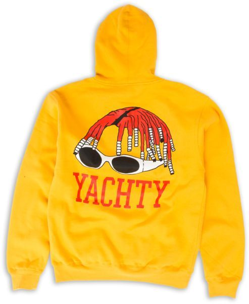 Yachty Yellow Back Hoodie RE23