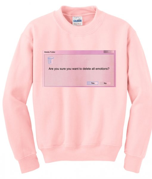 delete all emoticon sweatshirt IGS